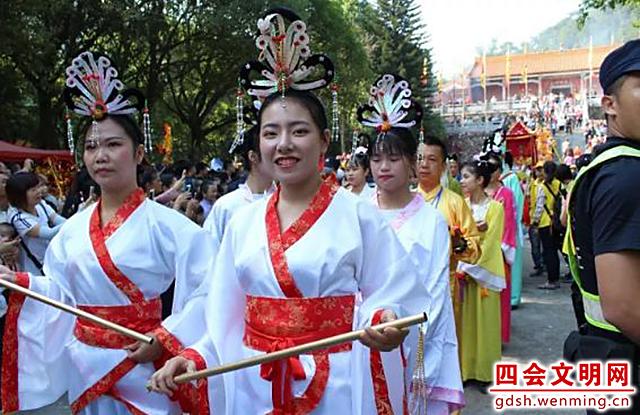 在重阳节,贞山风景区举行了贞仙诞巡游文化活动.图片来源:四会文明网